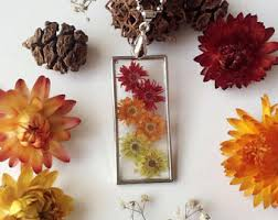 Real Flowers - real flower jewelry etsy
