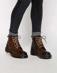 womens brown doc martens boots with unique example sobatapk com