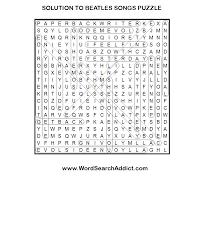 beatles u0027 songs printable word search puzzle