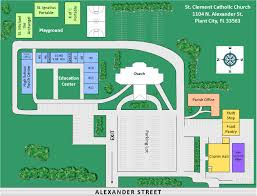 Catholic Church Floor Plans by Church Grounds Directions St Clement Catholic Church