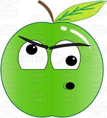 screwball and nuts green apple emoji cartoon clipart vector toons