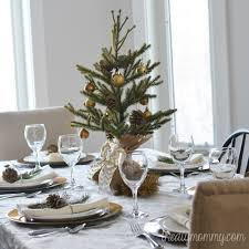 a simple gold u0026 natural christmas table the diy mommy