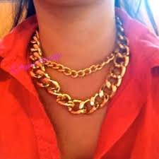 gold necklace chunky chain images Sandi pointe virtual library of collections jpg