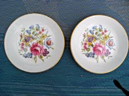 vintage china pattern vintage pair of royal worcester china coasters in floral pattern