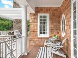 Cape Cod Interiors Cape Cod Style Shingled House With Covered Patio Cottage Deck