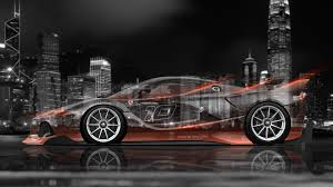 orange ferrari 4k ferrari fxx k side crystal city car 2015 el tony