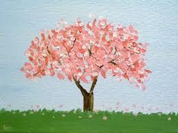 cherry tree original acrylic painting by jamies by jamiesart