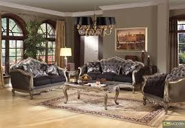 Traditional Living Room Furniture Stores by Luxury Living Room Furniture By Black Velvet Padding Back Rest
