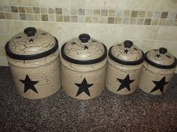 primitive kitchen canisters primitive crackle painted set of 4 canisters black country