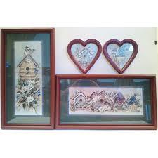 home interior birdhouse wall art set joy alldredge framed prints