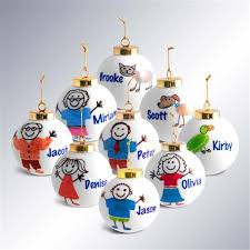 personalized stick family ornaments neat stuff gifts