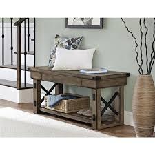 altra wildwood wood veneer entryway bench home sweet home