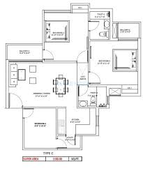 1100 sq ft 3 bhk 1100 sq ft apartment for sale in sikka kaamya greens at rs