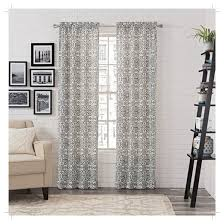 Curtain Pairs 2pk Brockwell Curtain Panel Pair Medallion Blue 28 X95 Pairs