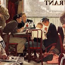 saying grace painting print on canvas by norman rockwell