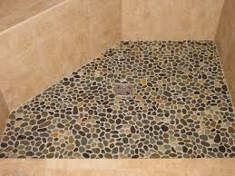 bathroom shower floor ideas river rock shower floor design bathroom ideas