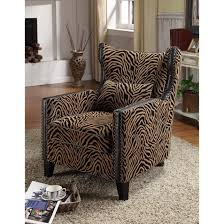 Chenille Living Room Furniture by Armen Living Tiger Chenille Nail Head Accent Chair Tiger Chenille