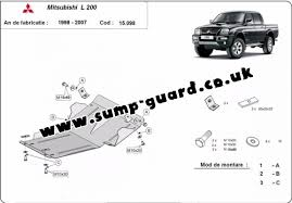 sump guard for mitsubishi l200