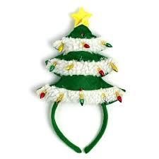 christmas headbands light up christmas tree headband neatorama