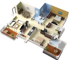 home interior plan design of house 3 bedroom modern house