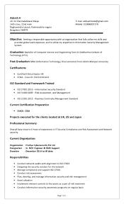 beautiful iso 27001 resume photos simple resume office templates