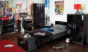 Black High Gloss Bedroom Furniture by Teen Range Black High Gloss Welcome Furniture
