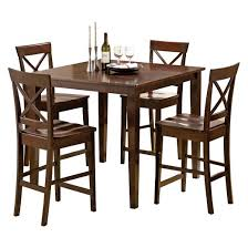Piece Coral Dining Table Set WoodBrown Steve Silver Company - Dining room sets wood