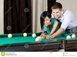 How To Play Pool Table Man Teaching To Play Billiards Stock Images Image 33585064