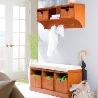 Entry Storage Bench With Coat Rack Furniture Espresso Entry Storage Bench Cabinet With Hanging Coat