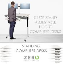 Adjustable Height Computer Desk Workstation by Standing Desks