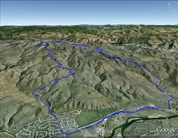 Boise Greenbelt Map Lucky Peak Loop Mountain Biking Boise
