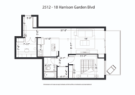 Garden Floor Plan by 2512 18 Harrison Garden Blvd