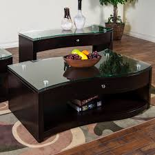 furniture simon x espresso coffee table with glass top for home