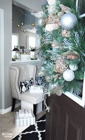 neutral and elegant christmas home tour setting for four