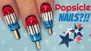 4th of july popsicle nails summer nail art youtube