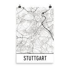 Map Of Stuttgart Germany by Stuttgart Germany Map Art Print Poster Wall Art From 29 99