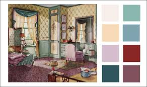 1930 home interior 1930s color scheme 1930 green buff and lavender bedroom