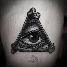 bones eye of providence design tatuajes