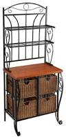 Container Store Bakers Rack Bennett Iron Wicker Bakers Rack Tropical Baker U0027s Racks By Sei