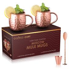 amazon com moscow mule copper mugs set of 2 with free ebook