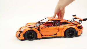 lego porsche 911 gt3 rs lego technic 42056 porsche 911 gt3 rs lego speed build video