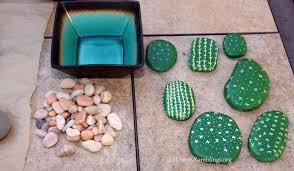 Painting Rocks For Garden Make A Painted River Rock Cactus Garden Craft Idea
