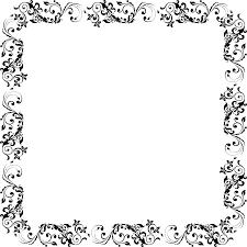 halloween border vector clipart flourish square