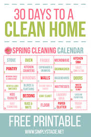 30 day spring cleaning calendar simply stacie