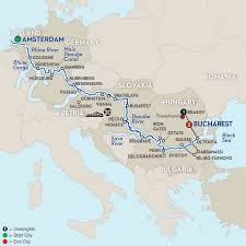 Europe Map With Rivers by Amsterdam To Transylvania River Cruise Avalon Europe