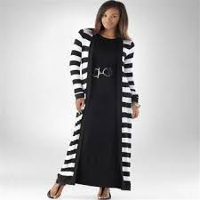 striped casual maxi organic acrylic cotton sleeve open front