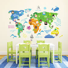 wall decor childrens world map wall sticker interior home childrens wall maps elegant childrens world map wall sticker