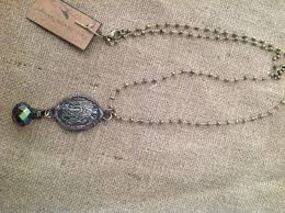 rosary chain necklace images Exquisite long pyrite wired rosary chain necklace christian jpg