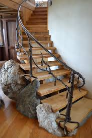 tree branch railing middletown organic handrail stair railings