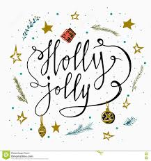 Holly Stars by Holly Jolly Hand Drawn Typography Poster Card With Branches